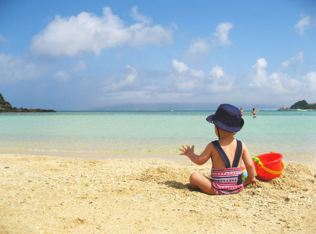海と子ども