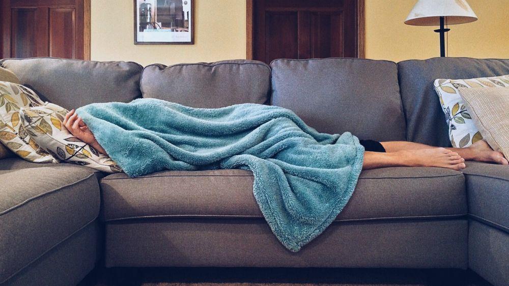 ソファーで休憩