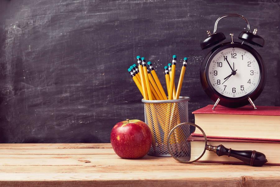鉛筆と時計